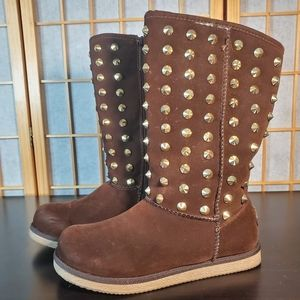 Brown Spike Boots Size 7